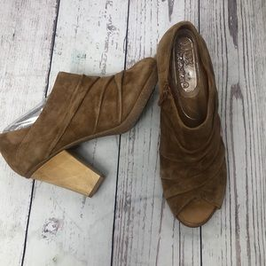 Naya suede peep toe ANA heeled  booties